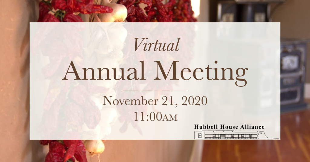 virtual Annual Meeting November 21, 2020 11am